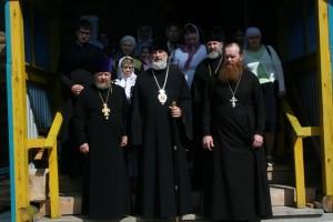 Глава Шадринской епархии епископ Владимир посетил Покровский храм  села Песчано-Коледино