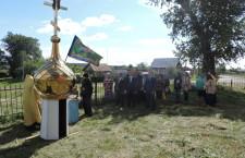 По благословению епископа Шадринского и Далматовского Владимира, в селе Шутихинское состоялось освящение креста и купола.