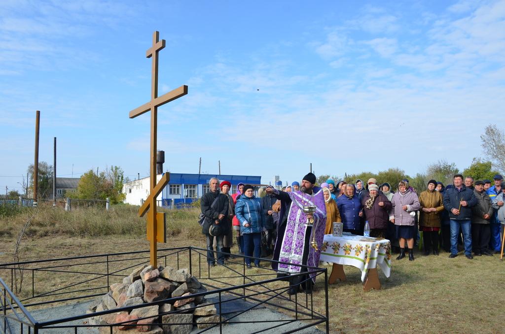 Освящен Поклонный Крест с памятной доской в селе Сухоборском Щучанского района.