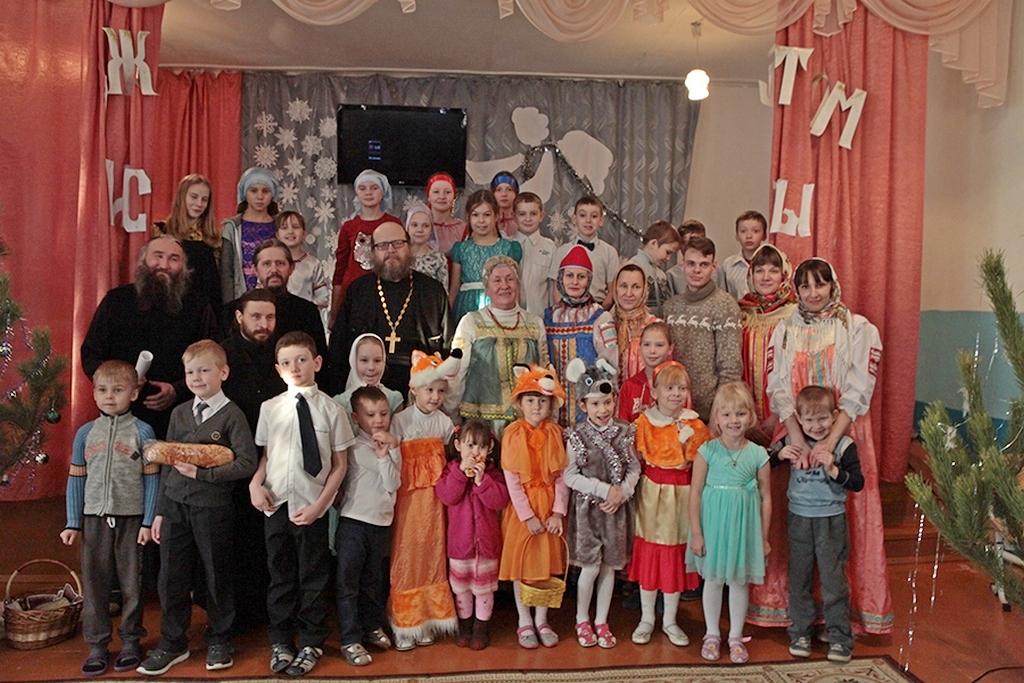7 января 2018 года, в праздник Рождества Христова, в воскресной школе Далматовского монастыря состоялся традиционный детский утренник, в котором принял участие иермонах Иосиф (Бровкин)