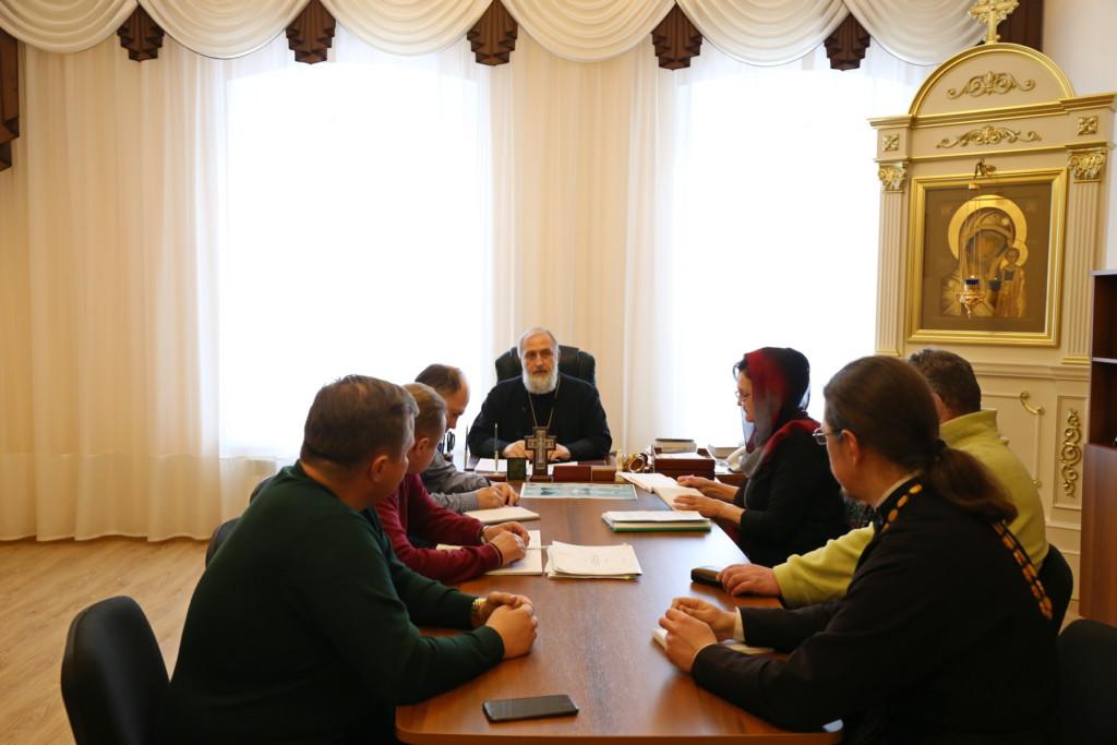 Епископ Шадринский и Далматовский Владимир провёл рабочее совещание по вопросам строительства Духовно-просветительского центра в г. Шадринске. 28.02.2018 г.