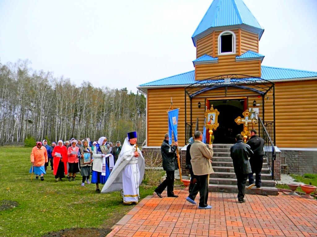 В храме в честь Вознесения Господня села Ключи Шадринского района,  состоялся Престольный праздник. 17.05.2018 г.