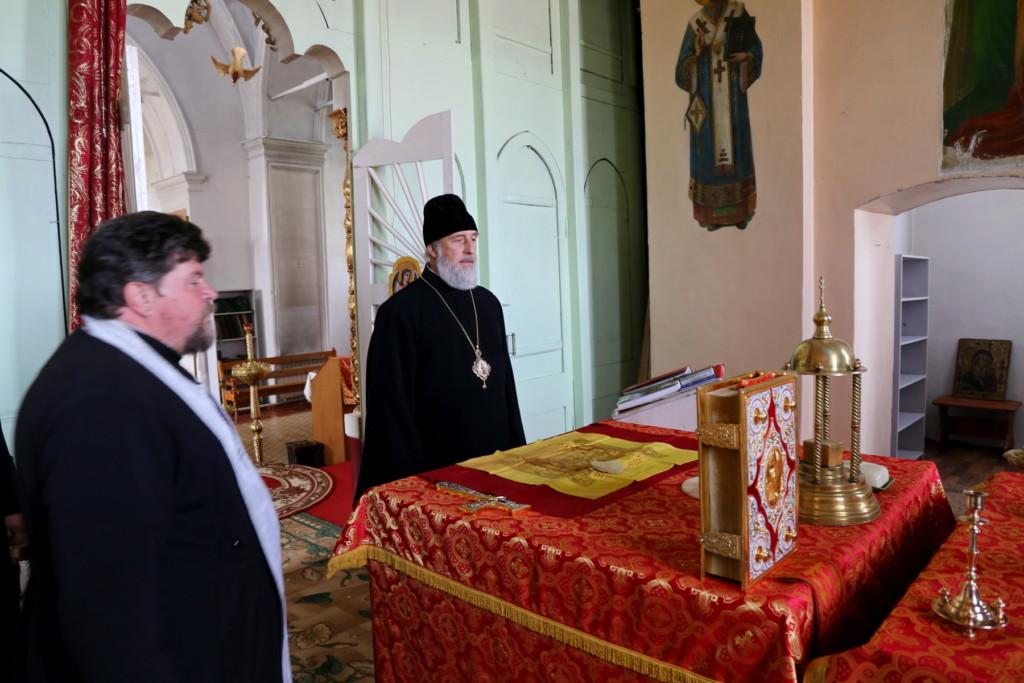 Глава Шадринской епархии епископ Шадринский и Далматовский Владимир посетил с рабочим визитом Западное благочиние. 17.05.2018 г.