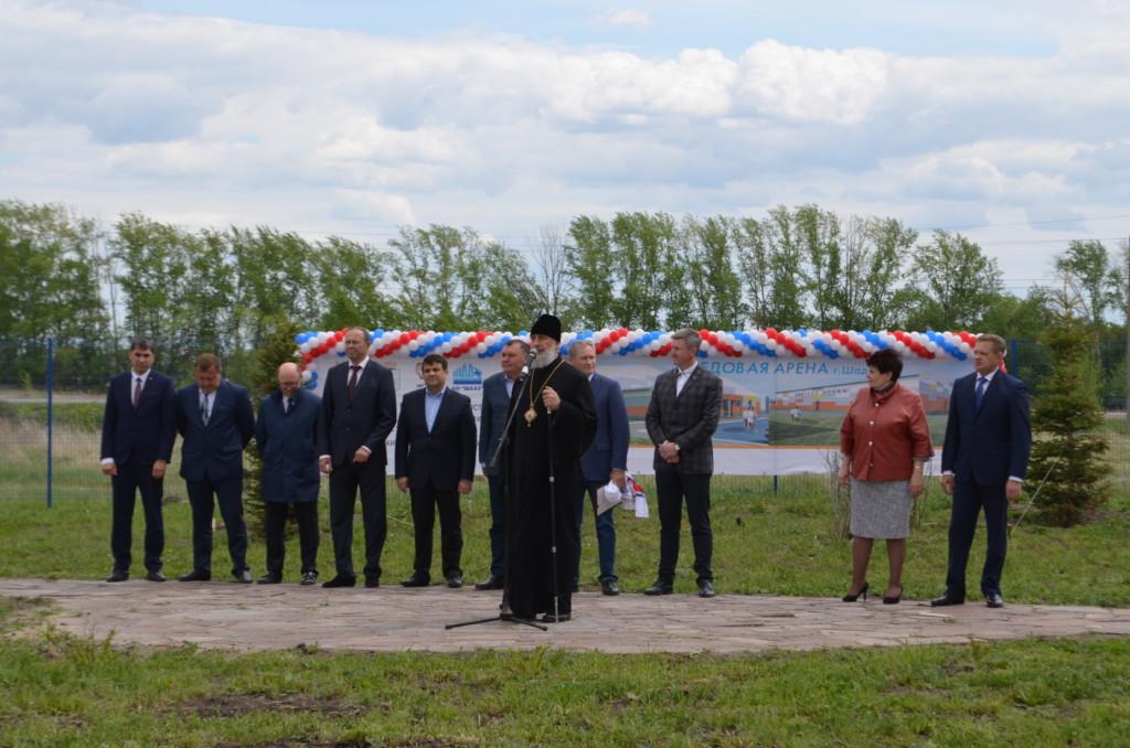 Глава Шадринской епархии епископ Шадринский и Далматовский Владимир принял участие в закладке камня под строительство ледовой арены в г. Шадринске