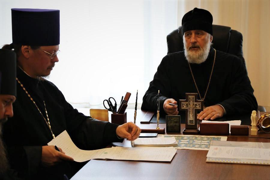 Епископ Шадринский и Далматовский Владимир провел совещание по вопросам организации и проведения предстоящих мероприятий 05.07.2018 г.
