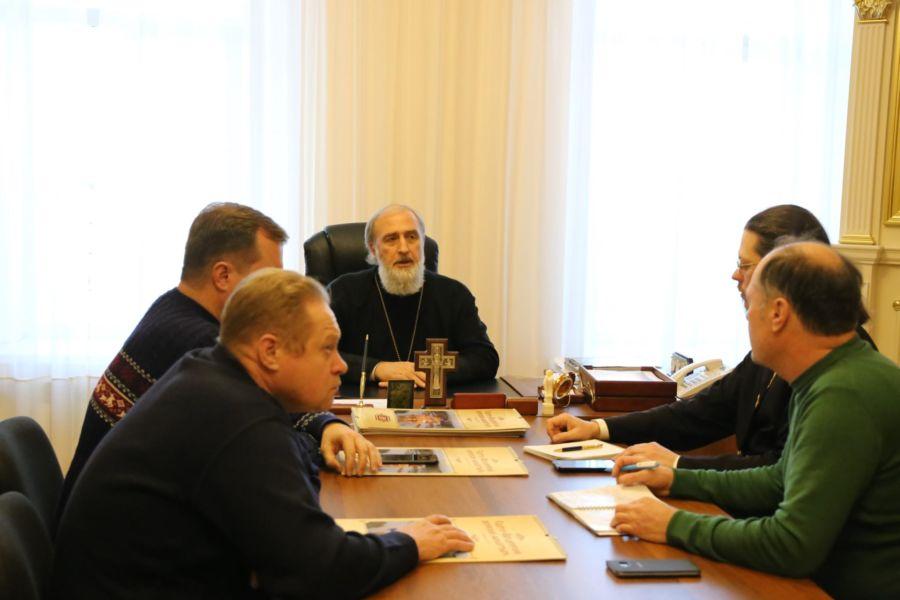Епископ Шадринский и Далматовский Владимир провёл рабочее совещание по вопросам окончания строительства Духовно-просветительского центра в г. Шадринске 21.12.2018 г.