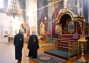 Успенский Далматовский мужской монастырь посетил епископ Плесецкий и Каргопольский Александр