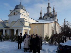 Собор в честь Преображения Господня посетили паломники из г. Кургана