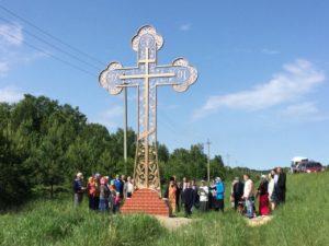 В Куртамыше освятили поклонный крест в западной части города