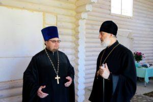Епископ Владимир оценил ход работ в строящемся храме в северо-восточной части города Шадринска