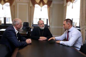 Епископ Владимир встретился с заместителем губернатора Курганской области по экономической политике Владимиром Архиповым и Главой города Шадринска Виктором Ермишкиным
