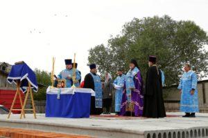 Епископ Владимир совершил чин освящения камня в основании храма в честь Покрова Пресвятой Богородицы п. Юргамыш