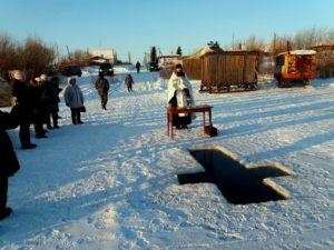 В праздник Крещения Господня иерей Сергий Кретов совершил чин Великого освящения воды на водных источниках нескольких сел