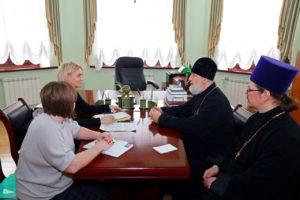 Состоялась рабочая встреча епископа Владимира и начальника Главного управления социальной защиты населения Курганской области Анастасии Золотухиной