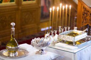 Таинство Соборования в кафедральном храме святителя Николая