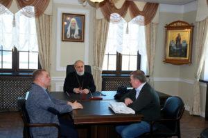 Преосвященеейший Владимир возглавил совещание по вопросам дальнейшей реставрации Преображенского храма с. Батурино
