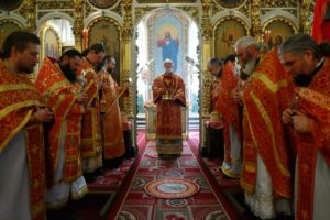 Божественная литургия в храме Воскресения Словущего г. Шадринск. 07.05.2021 г.