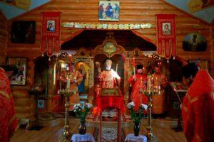 Всенощное бдение в храме в честь иконы Божией Матери «Всех скорбящих радость» г. Катайска 08.05.2021 г.