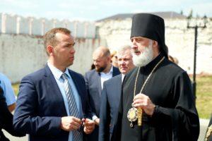 Епископ Владимир принял участие в выездном совещании с губернатором Курганской области Вадимом Шумковым