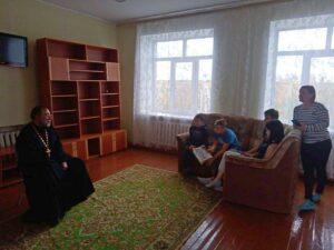 Руководитель Отдела по Тюремному служению Шадринской епархии протоиерей Сергий Тельманов посетил с профилактической беседой детей из ГБУ «Кипельский детский дом»