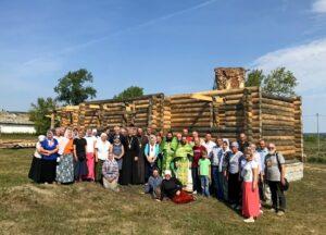 В деревне Ячменёво Шадринского района продолжается возведение храма в честь святителей Афанасия и Кирилла, архиепископов Александрийских