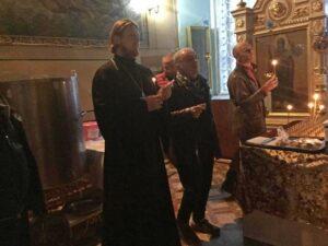 Рок-группа «Чайф» посетила Петропавловский храм г. Куртамыша